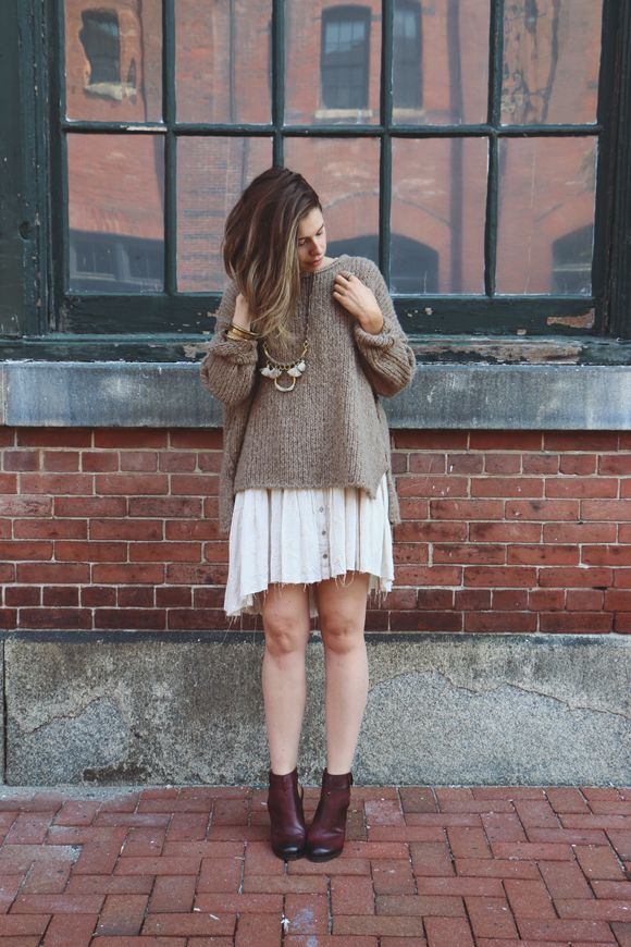 How To Layer Your Summer Dresses for Fall | Free People Blog #freepeople http://whoismocca.com