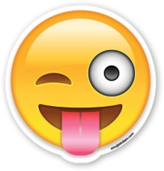 Face with Stuck Out Tongue and Winking Eye | Emoji Stickers