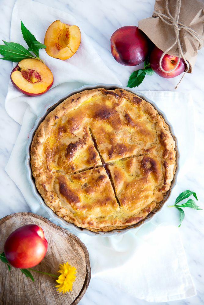 picante-jalapeno.blogspot.com: Obłędne, kruche ciasto z brzoskwiniami - brzoskwiniowy pie