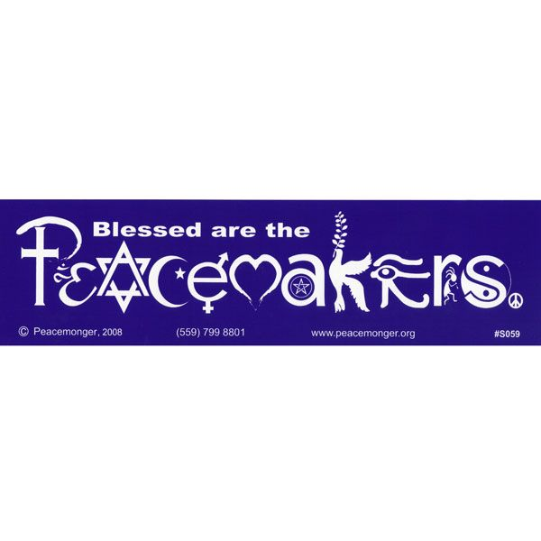 I have always liked this bumper sticker - it gives a better message than to simplycoexist.  Blessed are the Peacemakers in SymbolGlyphs