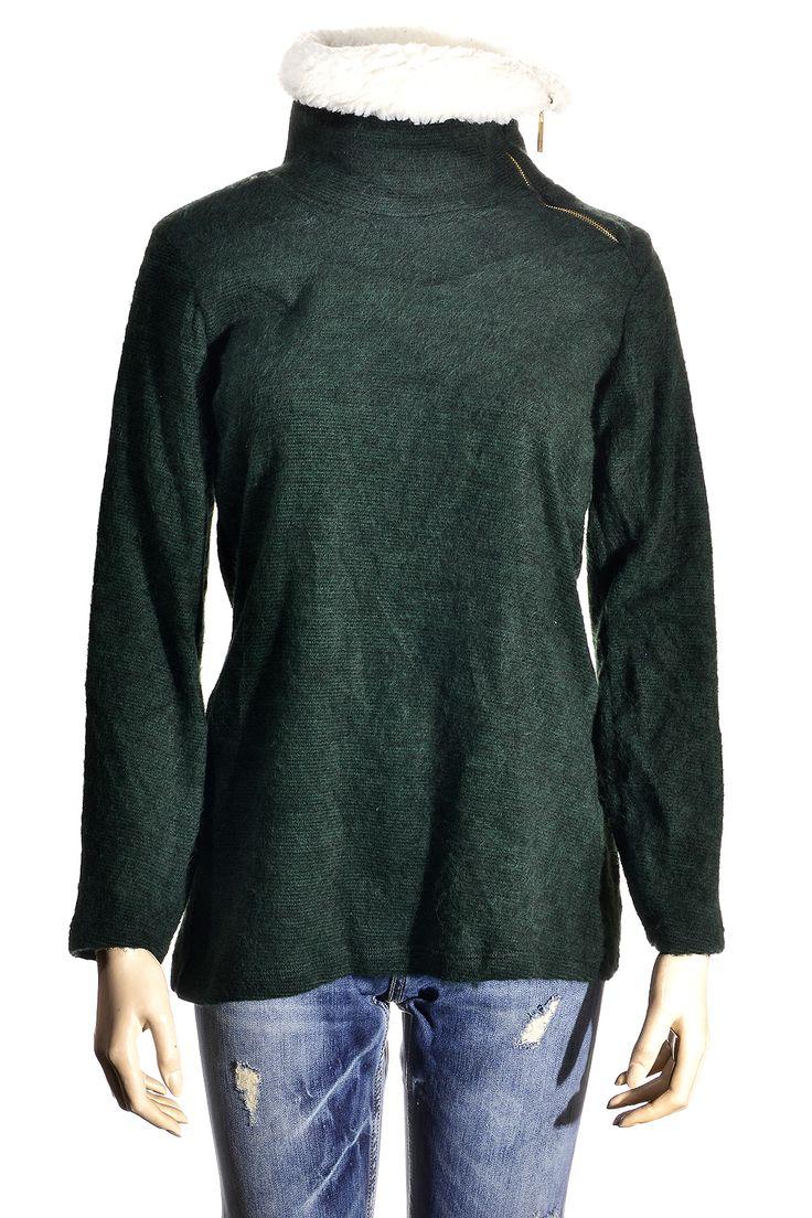 Μπλούζα με γούνα στο γιακά http://goo.gl/MkPjm1