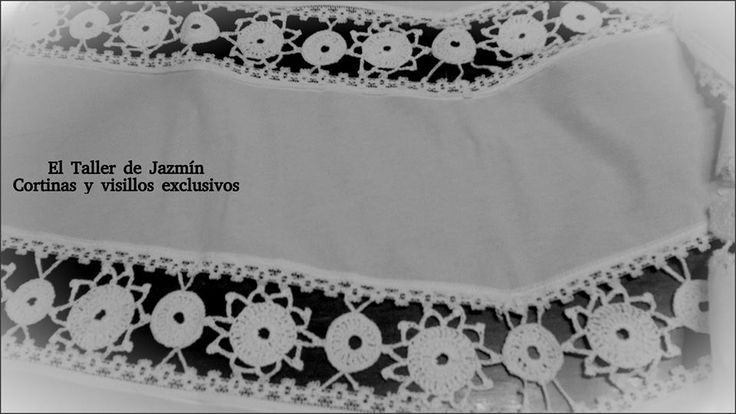 Catálogo de visillos y cortinas artesanales, barrales, tensores, alzapaños. El Taller de Jazmín.