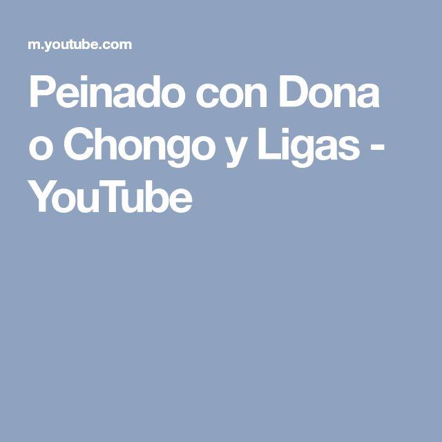 Peinado con Dona o Chongo y Ligas - YouTube