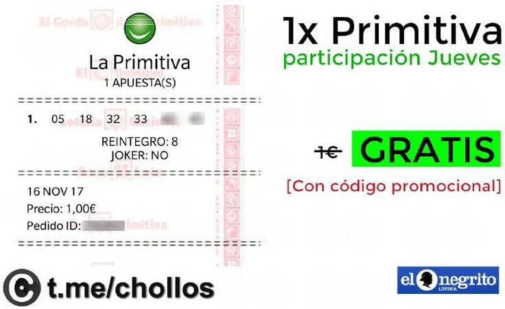 Participación a Primitiva para este jueves GRATIS - http://ift.tt/2hIiurH