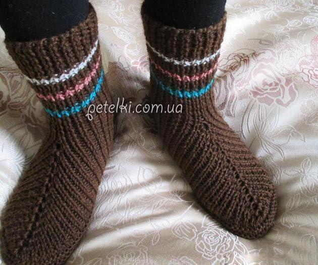 интересные но простые носки на двух спицах описание носок к