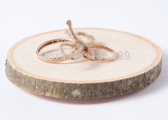 Rustic ring bearer pillow, wedding wood slice, rustic ring box, wedding decoration, wood wedding decor, ring pillow alternative,USD9.99