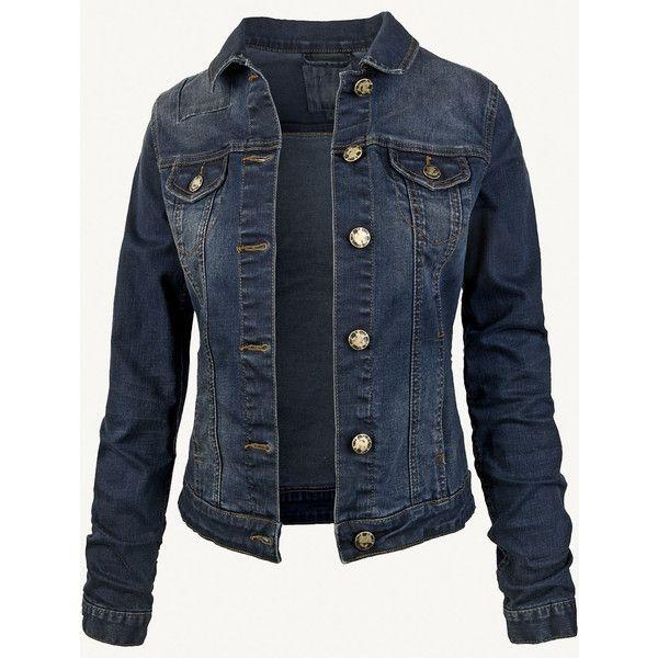 Fat Face Portobello Dark Denim Jacket ($42) ❤ liked on Polyvore featuring outerwear, jackets, coats & jackets, denim, denim jacket, jean jacket, fat face, blue jackets and blue denim jacket