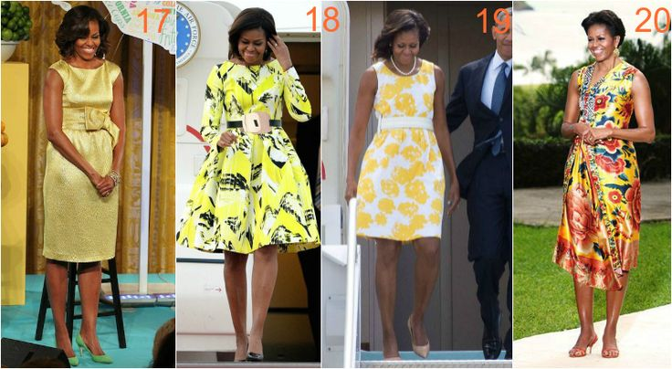 michelle obama jasne kolory