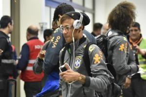Seleção chegou à fria cidade chilena sentindo o calor dos fãs (Foto: Rodrigo Buendia) - Fornecido por Gazeta Esportiva