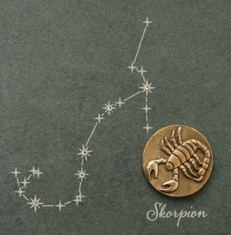 Wandrelief Sternzeichen Skorpion Schiefer Swarovski 14, 5