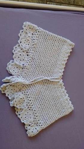 Short Em Crochê Linhas Em Algo |