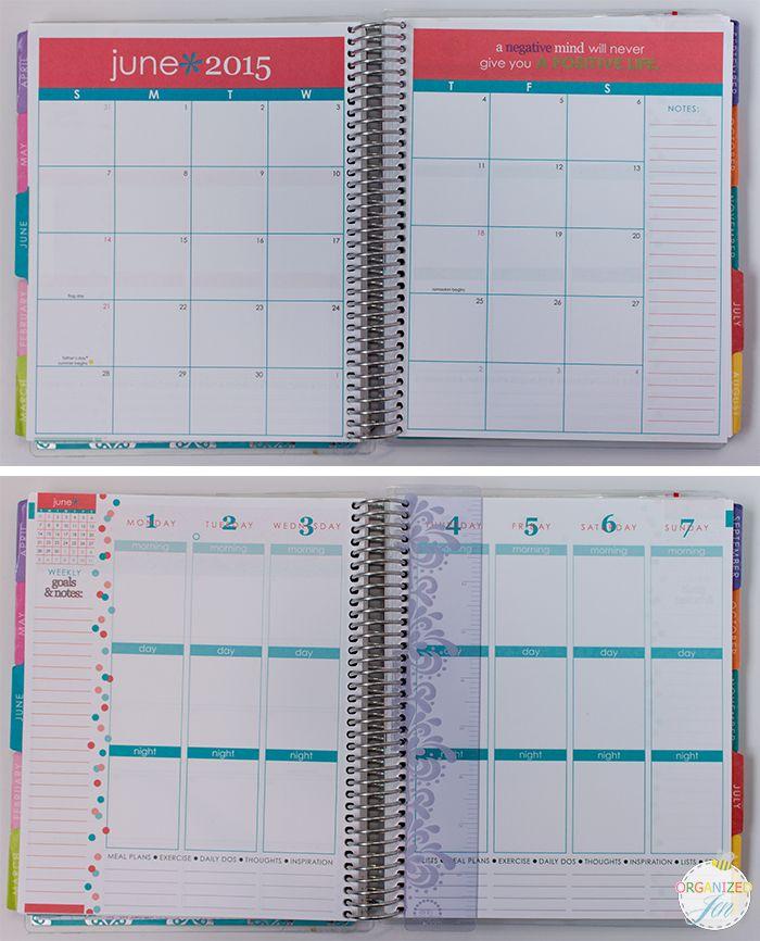 Calendar Vs Planner : Best dated printed inserts images on pinterest