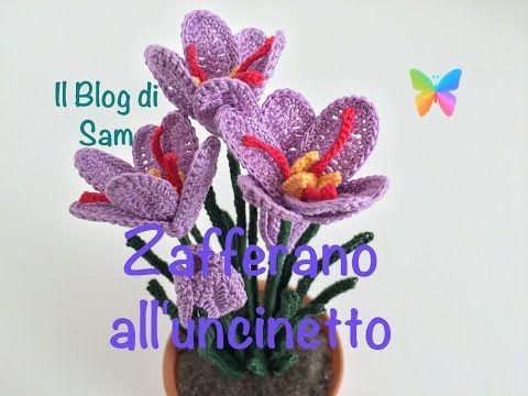 Il Blog di Sam: Spiegazione del Fiore dello Zafferano all'uncinetto