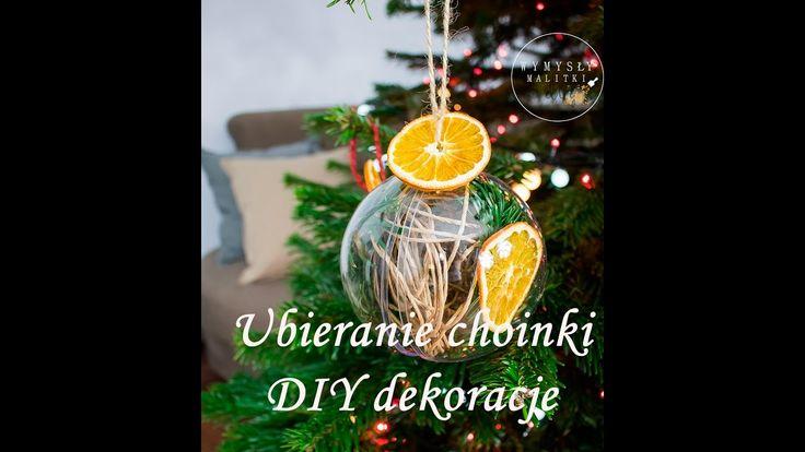 """Ubieranie choinki. Ozdoby choinkowe """"zrób to sam"""". DIY Christmas tree de..."""
