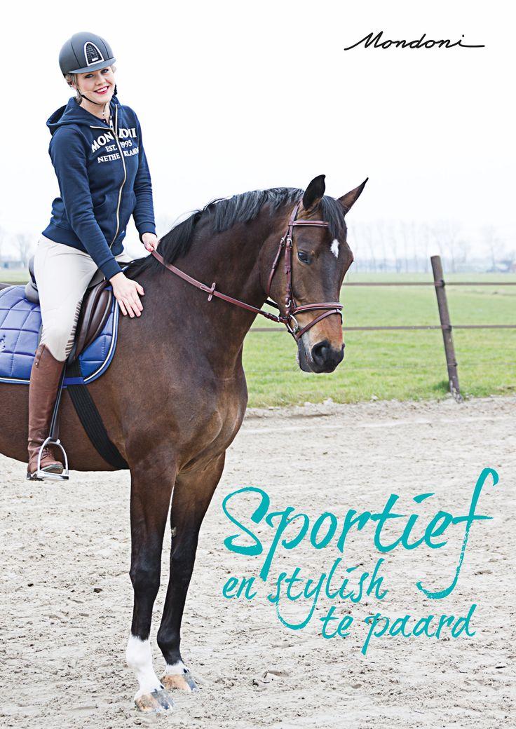 #sportief en #stylish te #paard! me #mondoni. www.divoza.com #horseworld #horseriding #divoza #ruiterartikelen