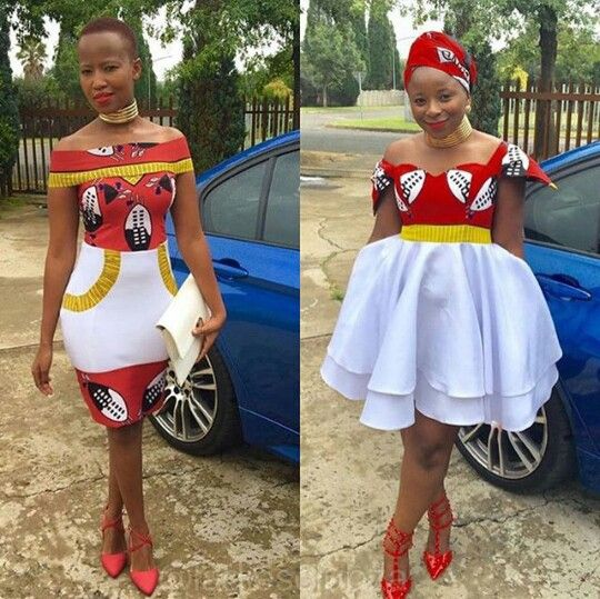 Swazi regalia bridesmaids.... Differently put.