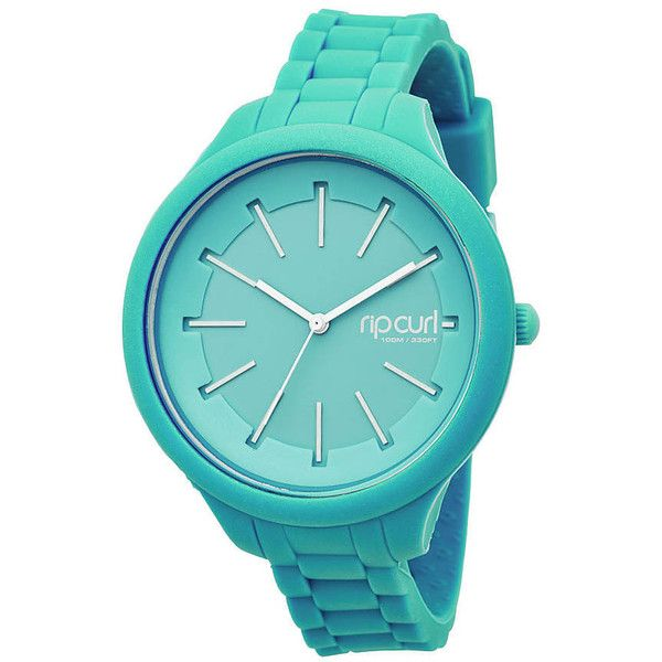 Rip Curl Horizon Silicone Watch (130 AUD) ? liked on Polyvore featuring jewelry, watches, accessories, mint, silicone wrist watch, silicone watches, water proof watches, mint green jewelry and silicon