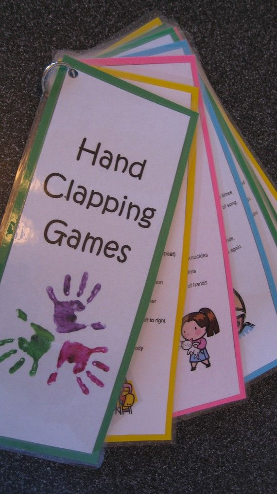 HandClapping Games Ten Laminated Cards on a Ring by Fun4Kidz... LIKE this.