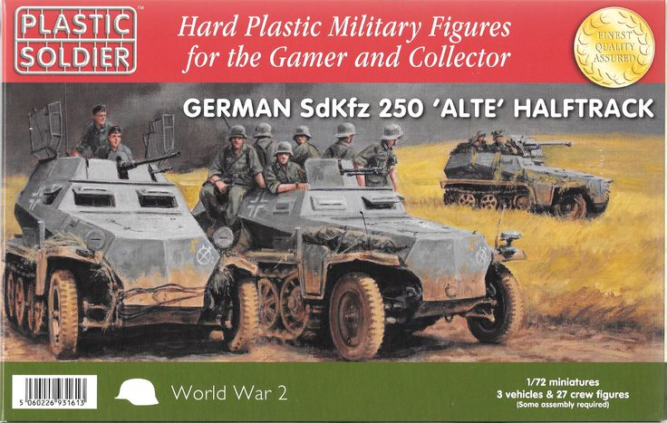 **bnib** #plastic #soldier company 20mm scale german #sdkfz 250 alte halftrack,  View more on the LINK: http://www.zeppy.io/product/gb/2/132097288315/