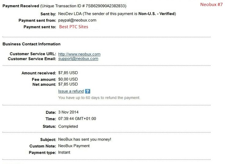 Neobux Payment Proof $7,85  http://bestptcsites.biz
