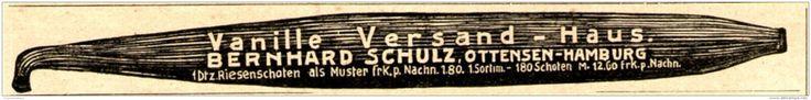 Original-Werbung/ Anzeige 1910 - VANILLE VERSAND-HAUS BERNHARD SCHULZ - OTTENSEN - ca. 135 x 15 mm