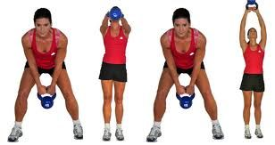 get a kettle ball great workout for arms, abs and legs. full body with one ball...no excuse