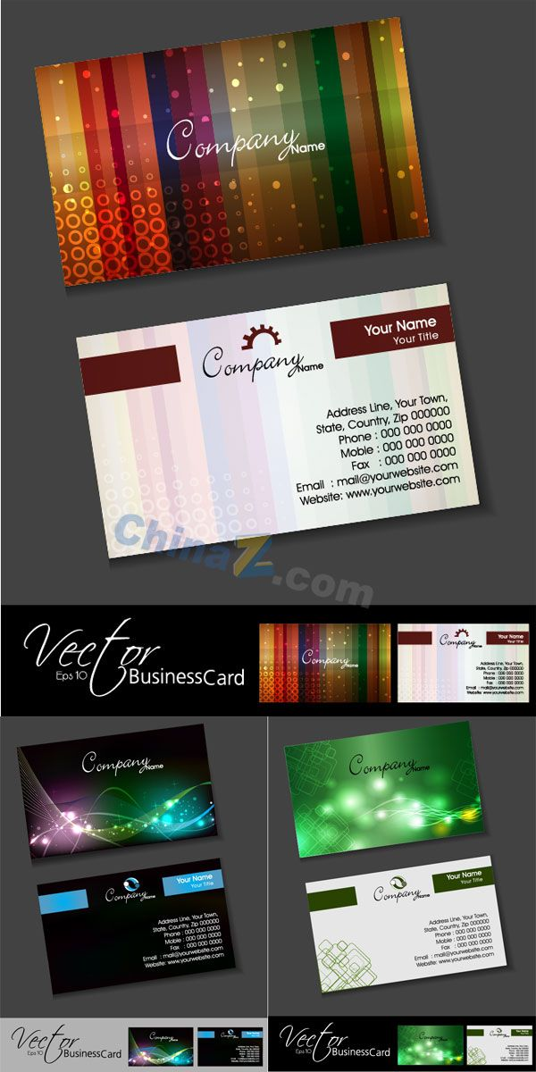Mobile technology vector business card template