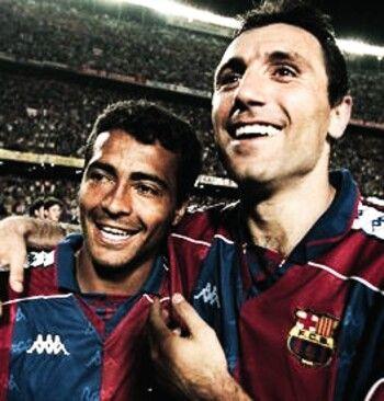 Romario and Stoichkov at Barcelona