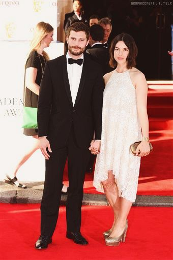 Jamie and Amelia Warner arriving for the 2014 Arqiva British Academy Television Awards at the Theatre Royal in London [18.05.2014]