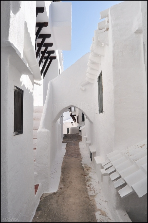Binibequer Vell (Menorca- Spain) ~ The white walls, the small windows and de narrow streets are the best hot protection