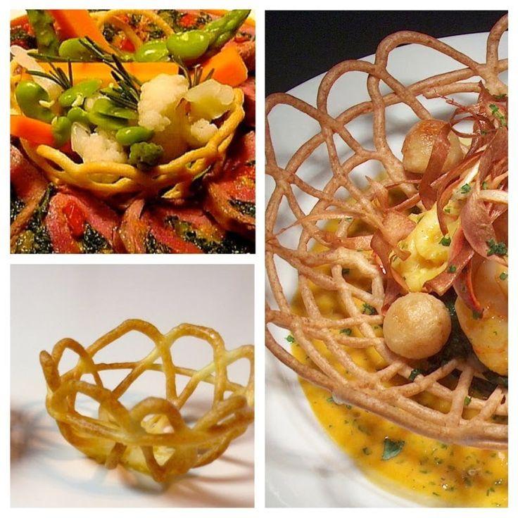 How to make Pastry Basket-Food Plating-Food Decoration-Plating Garnishes...