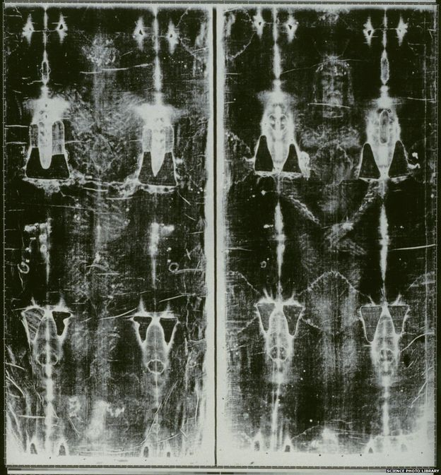 "On Sunday 21 June 2015, Pope Francis will ""venerate"" the famous Shroud of Turin, which is thought by some to be the burial wrapping of Jesus Christ - and by others to be a medieval fake. Whatever it is, it's a mystery how the cloth came to bear the image of a man."