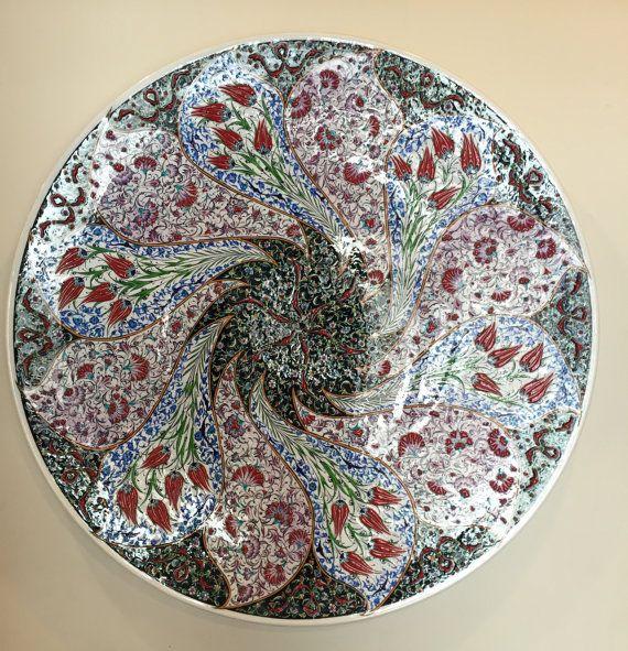 Plaque conception traditionnelle ottomane tulipe par ChezGalip