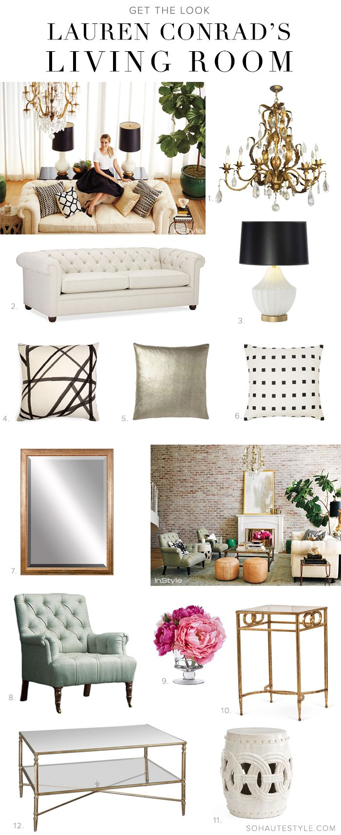 Great Lauren Conrad Home Apartment Get The Look · Gold Living RoomsBlack ...