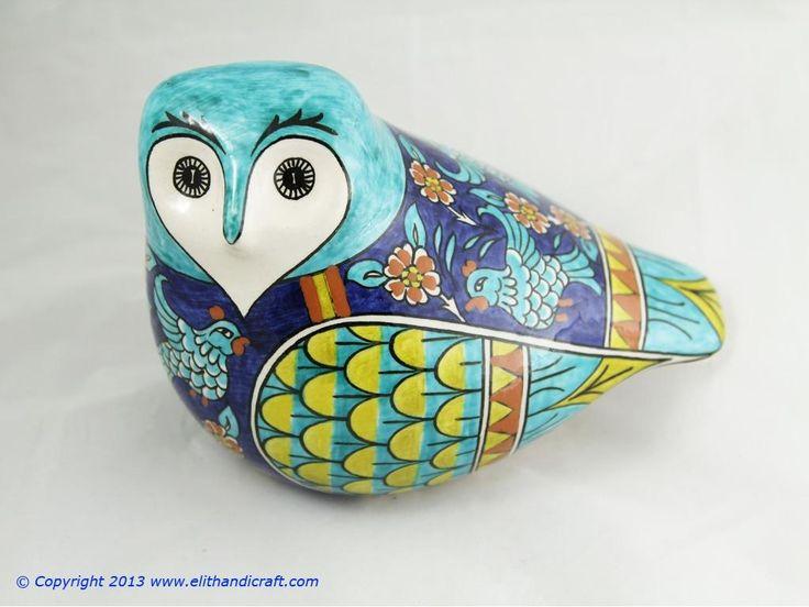 Elit Handicraft - SU020009 Sıtkı II Çini Baykuş