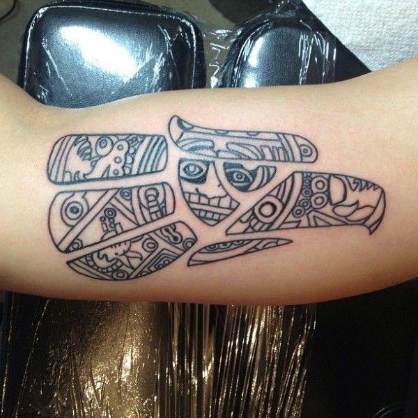 tatuagem da águia asteca