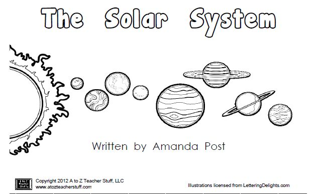 Printable Book About the Planets:  The Solar System pinned @ I Love Teaching Blogs http://atoztea.ch/iluvtchblgs