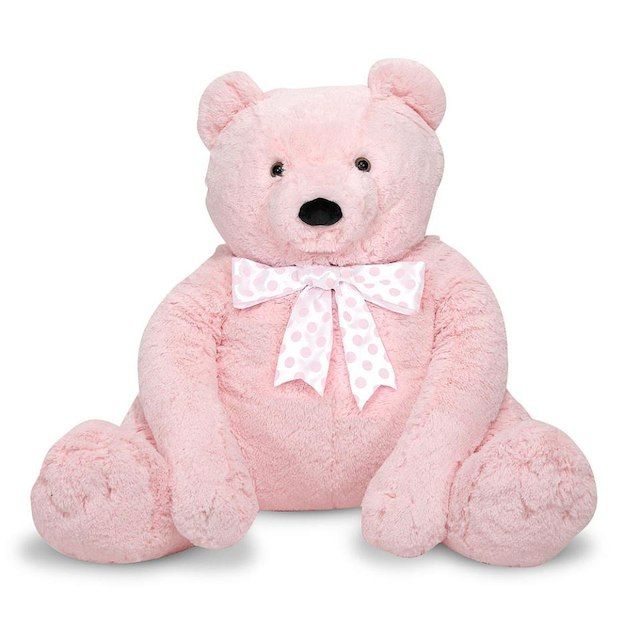 "Melissa & Doug Jumbo Pink Teddy Bear Stuffed Animal (2 feet tall) - Toys""R""Us"