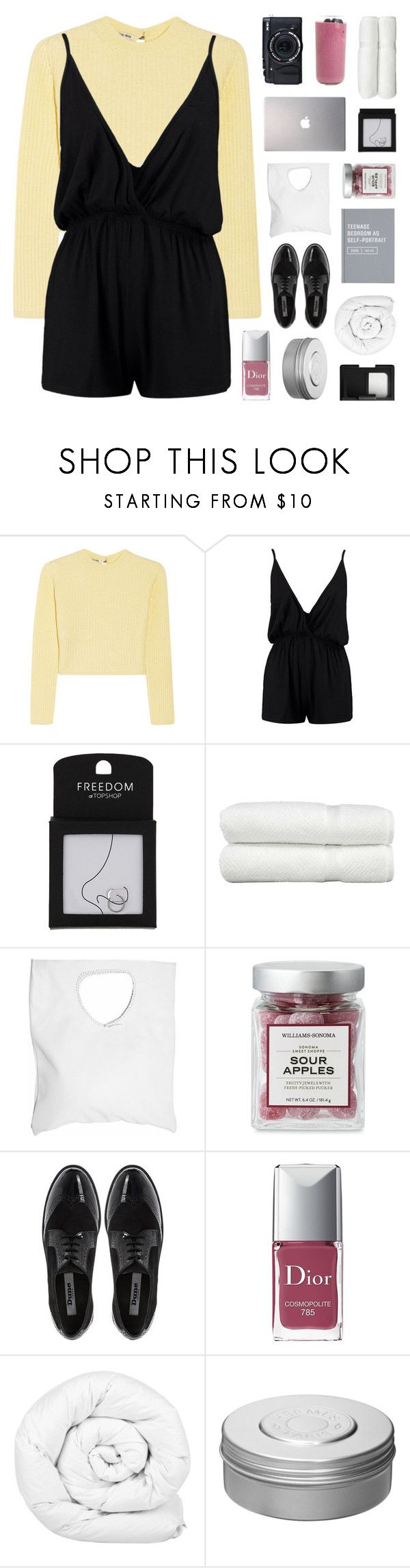 """goosebump soup and honey pie"" by bosspresident ❤ liked on Polyvore featuring Miu Miu, Boohoo, Fujifilm, Samsung, Topshop, Linum Home Textiles, Jennifer Haley, Dune, Christian Dior and Brinkhaus"