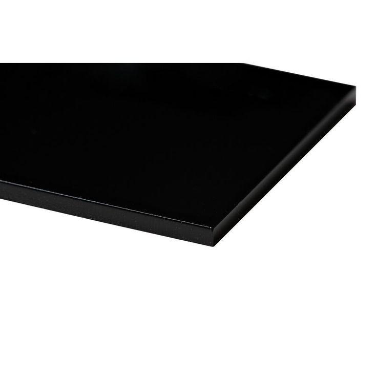 Plexiglas 48 in. x 48 in. x 1/8 in. Black Acrylic Sheet