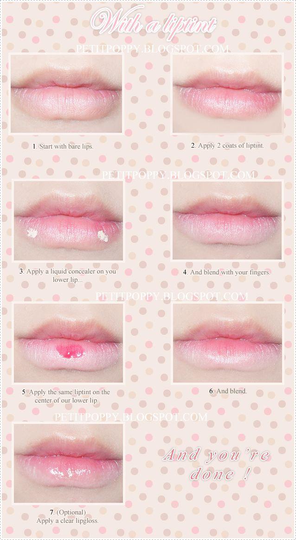 Petit Poppy: Tutorial ~ Ulzzang lips