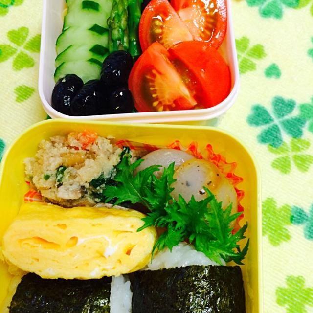 """今日はおからにコンニャクに温野菜と…ヘルシーに(・ิω・ิ)/"""" 去年と体重が全く変わってなかった(-ω-;)……と落ち込んでたので。。(笑) - 40件のもぐもぐ - 娘のお弁当〜♪ by kiyomi"""