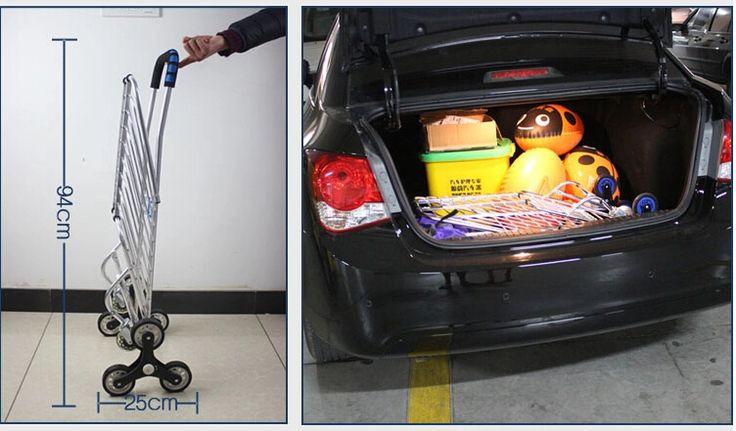 dobrável portátil de escada carrinho de compras carrinho de compras escada escalada com rodas dobráveis carrinho de mão