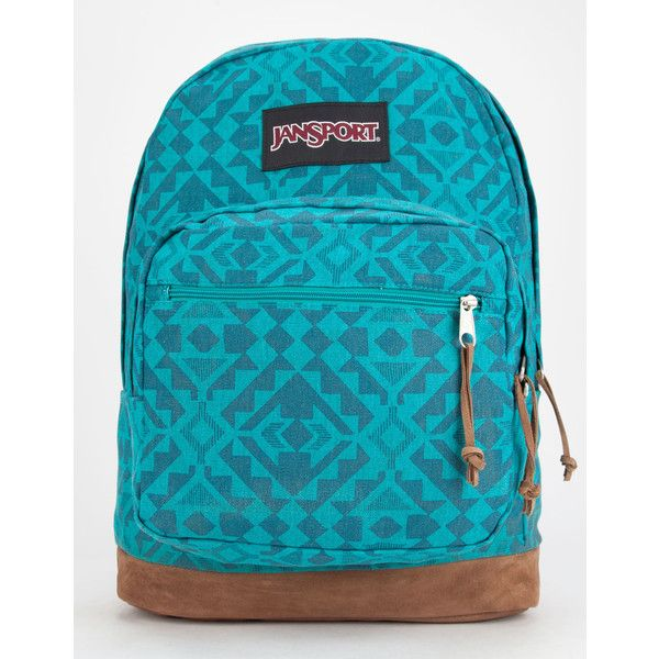 Jansport Right Pack Expressions Backpack ($32) ❤ liked on Polyvore featuring bags, backpacks, jansport, laptop backpack, blue bag, jansport backpack and blue backpack