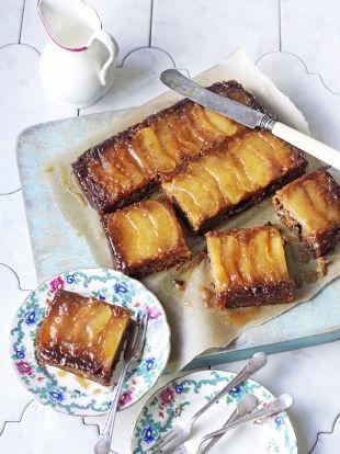 Vegan toffee apple upside-down cake | Jamie Oliver
