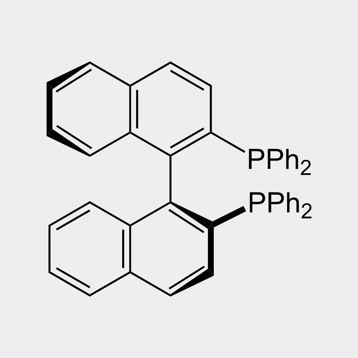 BINAP (22'-bis(diphenylphosphino)-11'-binaphthyl) is an organophosphorus compound. This chiral ligand is widely used in asymmetric synthesis. It consists of a pair of 2-diphenylphosphinonaphthyl groups linked at the 1 and 1 positions. This C2-symmetric framework lacks a stereogenic atom but has axial chirality due to restricted rotation (atropisomerism). The barrier to racemization is high due to steric hindrance which limits rotation about the bond linking the naphthyl rings. The dihedral…