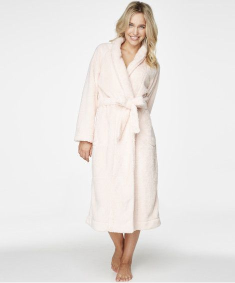 Lång morgonrock Fleece Glazed - Morgonrockar & kimonos - Nattkläder