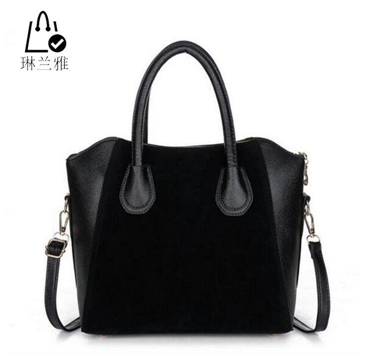 LINLANYA HOT! Fashion bags 2016 women's nubuck leather patchwork handbag smiley bag women shoulder bag women's bags HJPHOEBAG ** Read more at the image link.