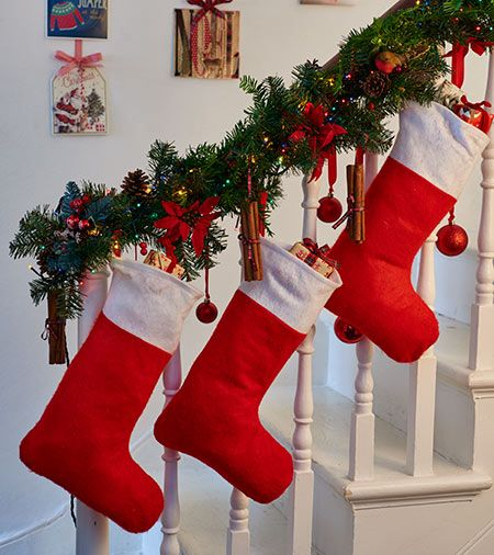 17 best images about christmas decorations tesco on for Hang stockings staircase