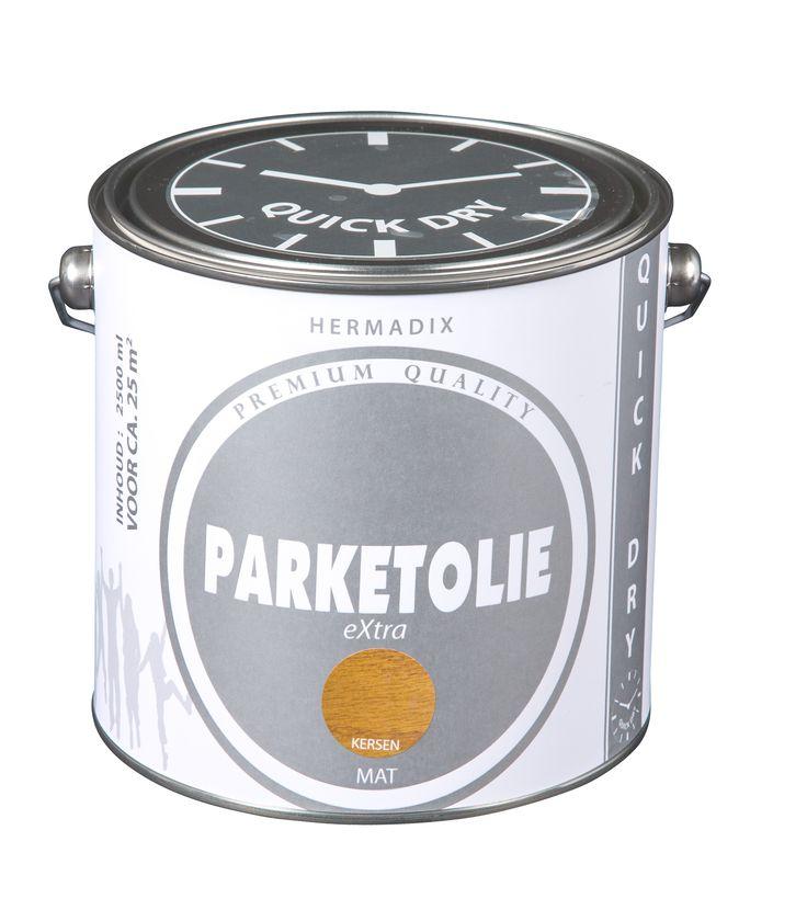 Parketolie 2500 ml, kleur kersen. Parketolie geeft altijd een matte natuurlijke uitstraling.